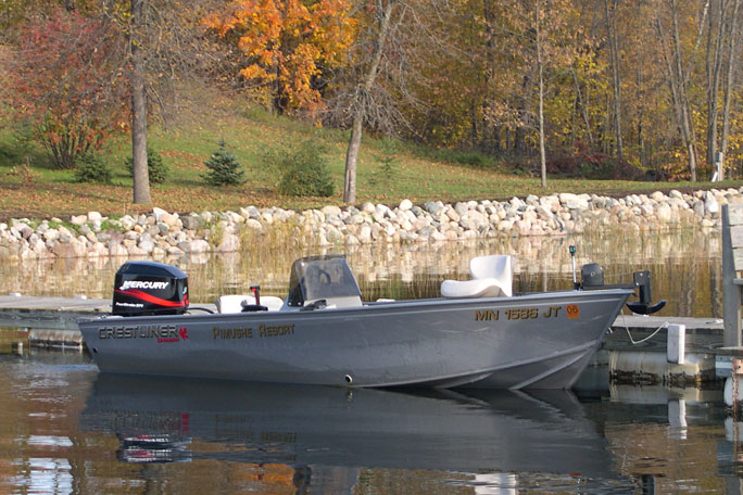 Affordable rates for pimushe resort northern minnesota for Fishing boat rental mn