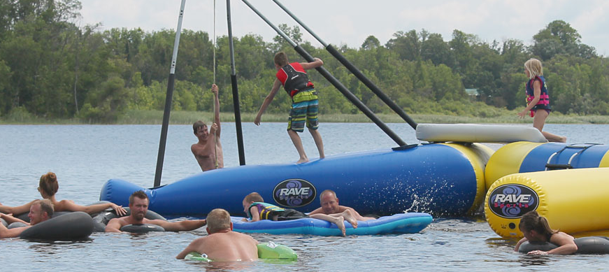 Resort Guests Enjoying One Of The Best Outdoor Water Parks In Northern Minnesota